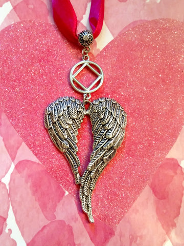 NA Angel Wings Tree Ornament Narcotics Anonymous - Outside Charm