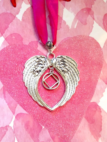 NA Angel Wings Wall Ornament Narcotics Anonymous - Inside Charm