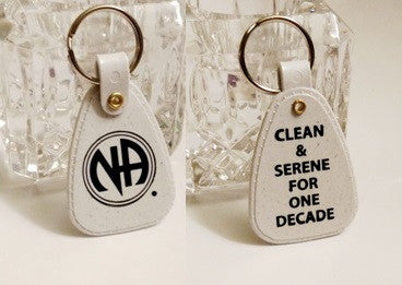 NA 10 Years Clean Key Tag Chip - One Decade