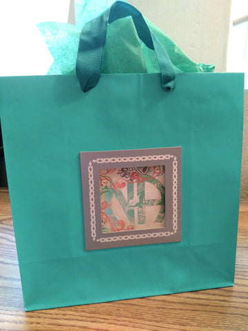 Teal Scroll NA Gift Bag