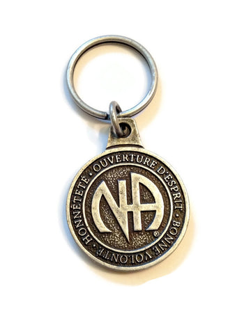 Pewter Color NA Key Chain From Canada - In French