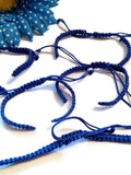 DIY Add A Charm Braided Nylon Friendship Bracelet  - 5 Pcs Royal Blue