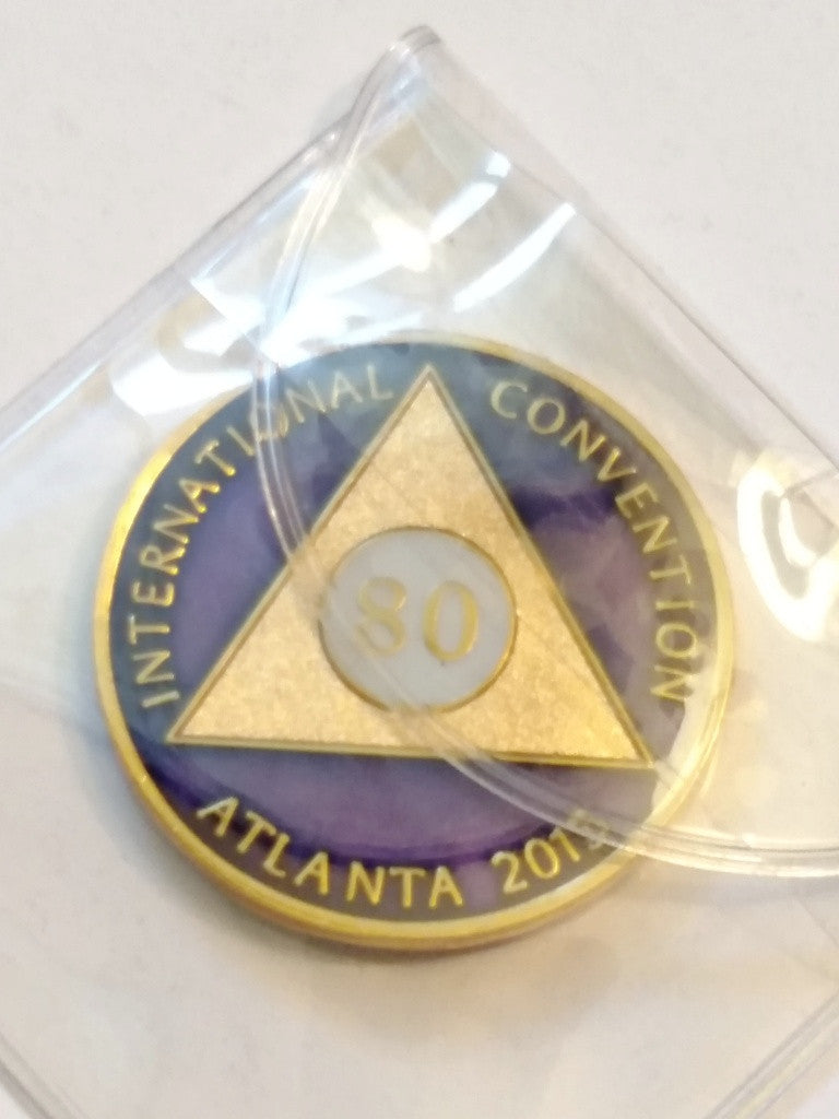 80 Year Commemorative AA 2015 International Convention Medallion Alcoholics Anonymous