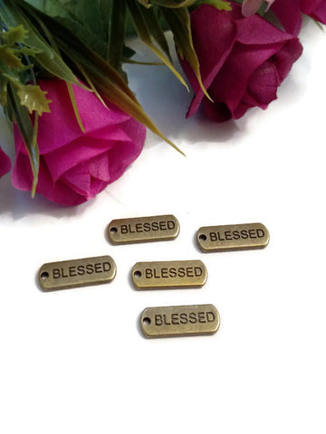 Bronze Blessed Pendant Charms Tags