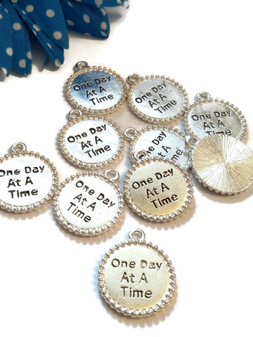ODAAT One Day At A Time Pendant Charms  - Edged Design
