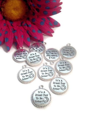Serenity Slide Beads Charms Serenity Prayer Narcotics Anonymous 12 Step Recovery