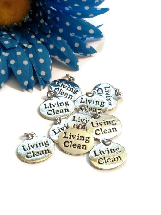 Living Clean Charms - Narcotics Anonymous 12 Step Recovery