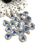 Blue Enamel Alcoholics Anonymous Cutout Charm Pendants