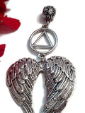 AA Tree Ornament Angel Wings Alcoholics Anonymous - Outside Charm