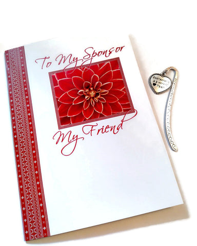 My Sponsor My Friend Card & Bookmark Set