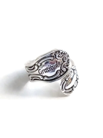 Gratitude Spoon Ring