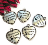 Sponsorship Is A Work Of Heart Pendant Charms - Alcoholics Narcotics Anonymous