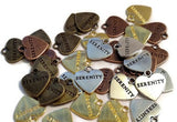Serenity Heart Mix Pack Charms - 40 Pc Pack