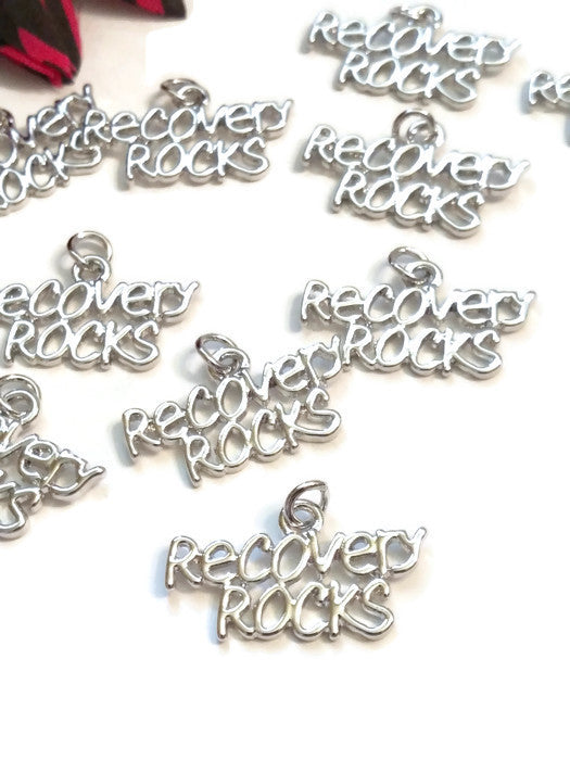 Recovery Rocks Pendant Charms