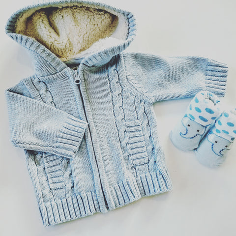 Cable Knit coat from Mintini Baby