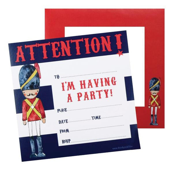 Soldier Party Invitations (Pack of 20)