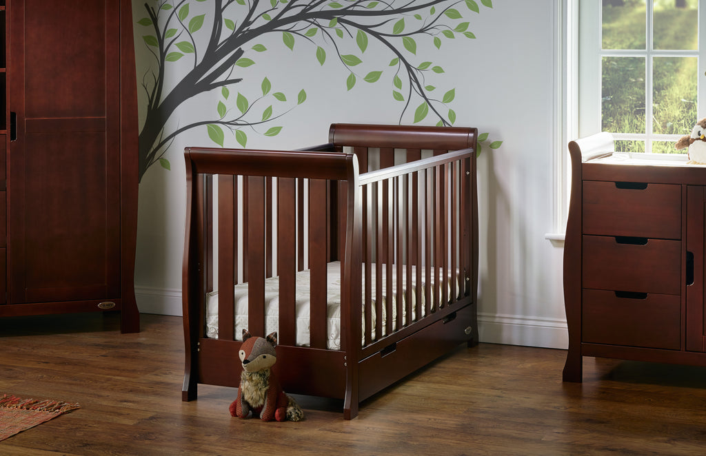 Stamford Walnut Two Piece Nursery Room Set Featuring Mini Cot Bed - The Simply Small Company