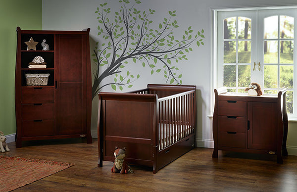 10% OFF RRP AND FREE DELIVERY Stamford Three Piece Nursery Furniture Set in Walnut - The Simply Small Company