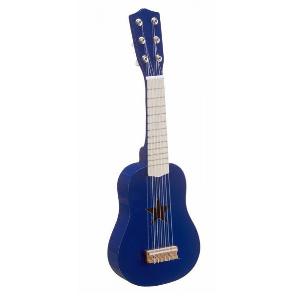 Blue Wooden Star Guitar - The Simply Small Company