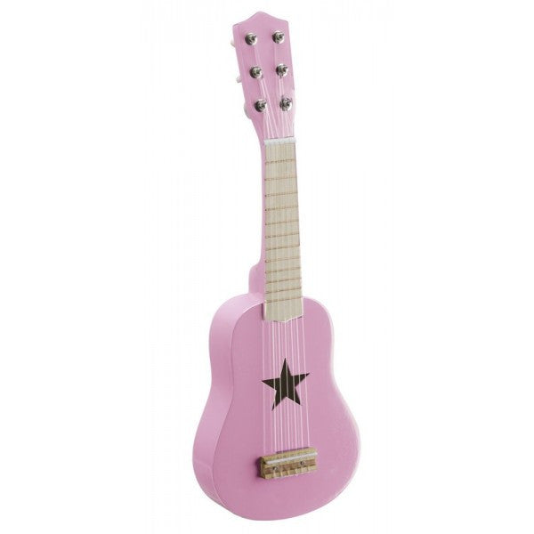 Pink Wooden Star Guitar - The Simply Small Company
