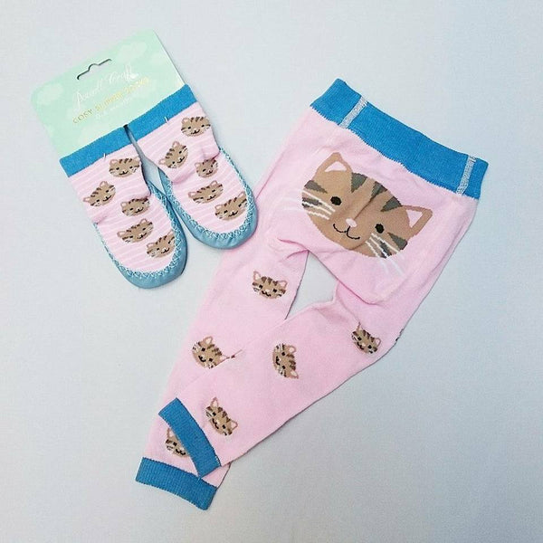 Powell Craft Cat Leggings and Moccasin Set