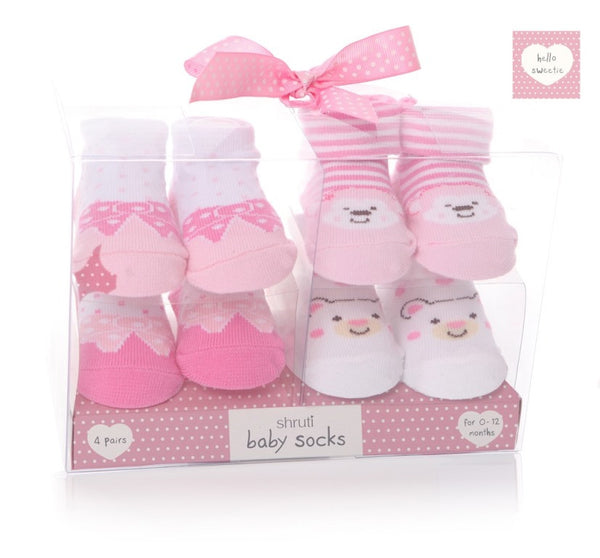 Baby Girl's Socks in Gift Box - The Simply Small Company