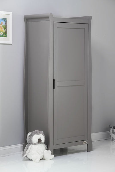 10% OFF RRP OBaby Stamford Single Wardrobe AVAILABLE IN WHITE OR GREY - The Simply Small Company