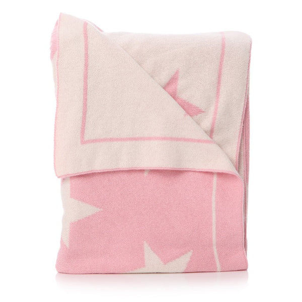 Star baby blanket: Pale Pink - The Simply Small Company