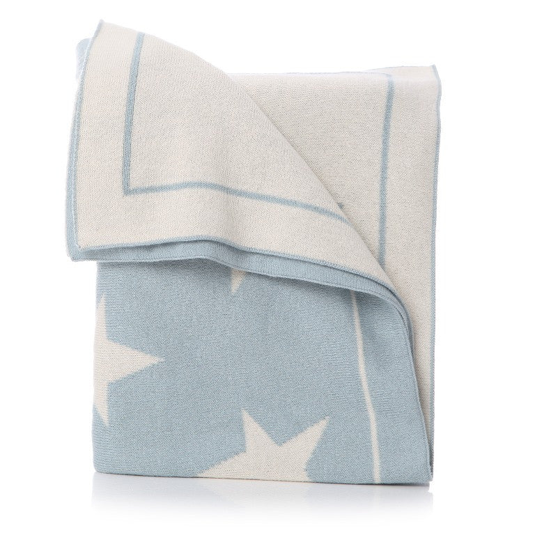 Star baby blanket: Pale Blue - The Simply Small Company