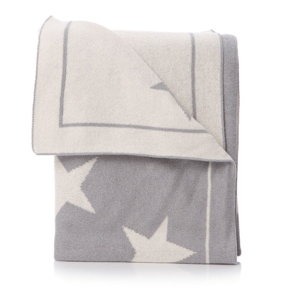 Star baby blanket: Grey - The Simply Small Company