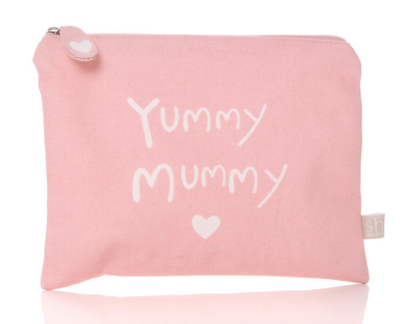 Yummy Mummy Washbag/Cosmetics Bag (Pink) - The Simply Small Company