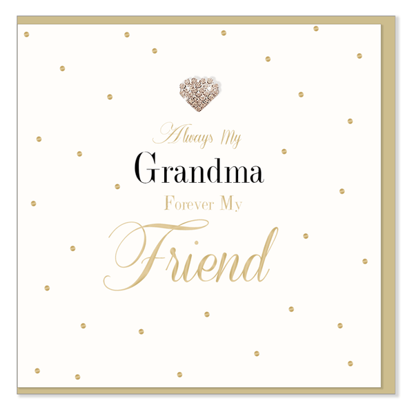 Always My Grandma, Forever My Friend Greetings Card - The Simply Small Company
