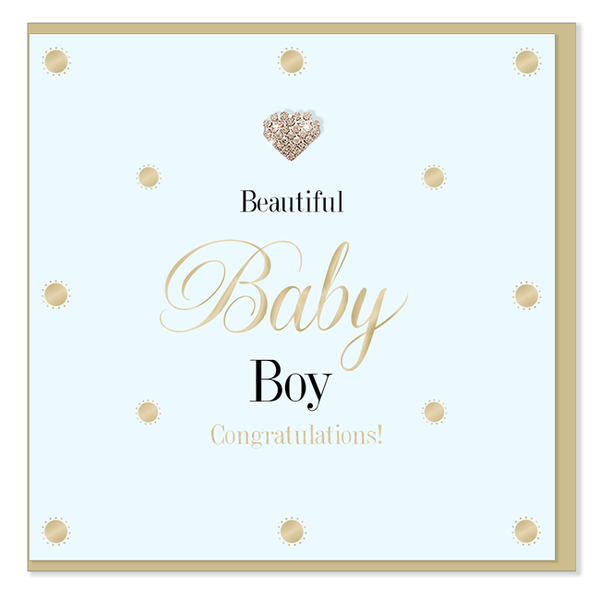 Beautiful Baby Boy: New Baby Card - The Simply Small Company