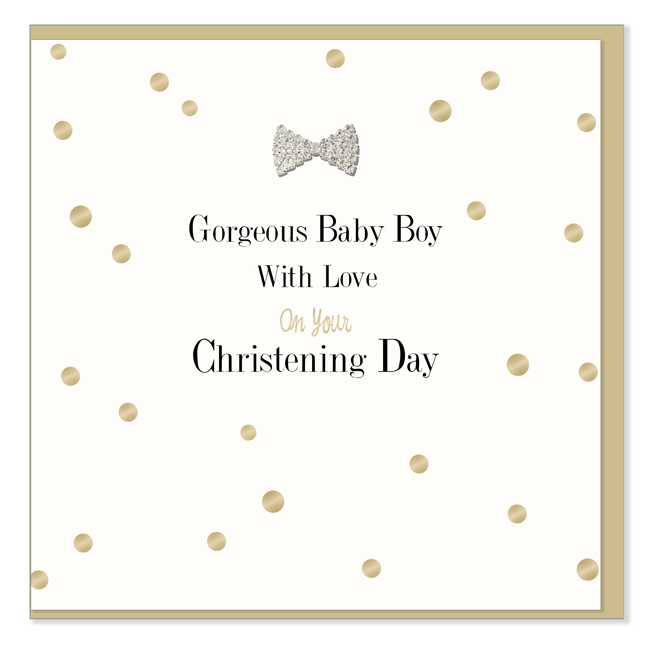 Gorgeous Baby Boy: Christening Card - The Simply Small Company