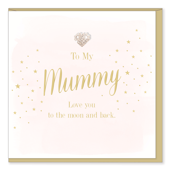 Mummy I love you to the moon and back Greetings Card - The Simply Small Company