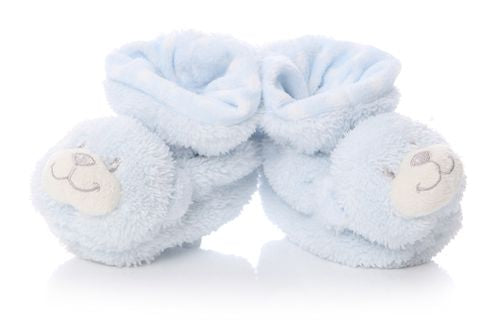 Blue Baby Bear Booties