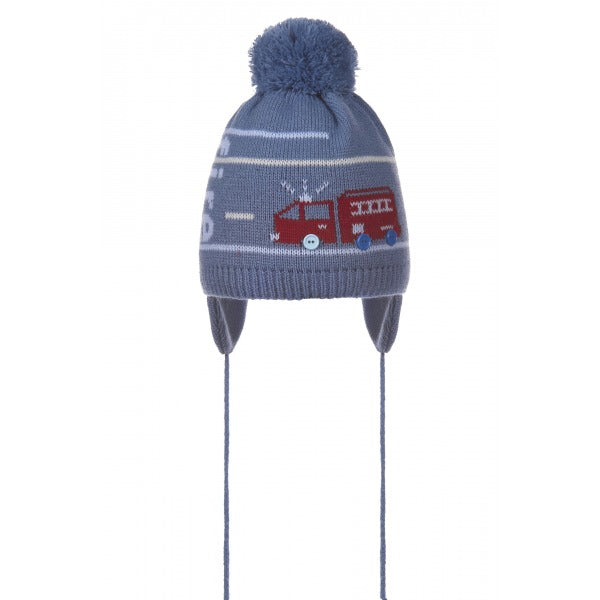 BACK IN STOCK!!! Baby Boy's Fire Engine Pom Pom Bobble Hat