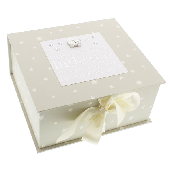 Twinkle Twinkle Baby Keepsake Box - The Simply Small Company