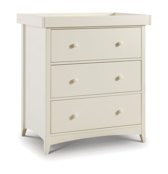 Cameo Nursery Changing Table/Chest of Draws: Stone White