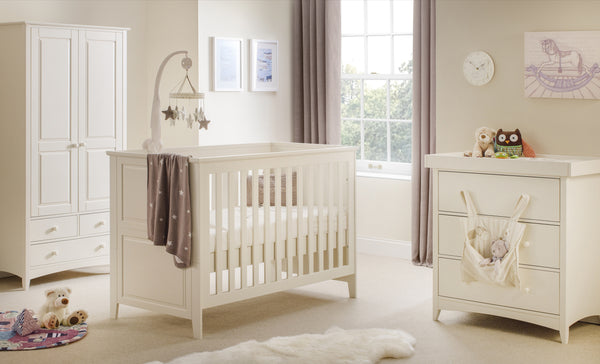Cameo Nursery Changing Table/Chest of Draws: Stone White - The Simply Small Company