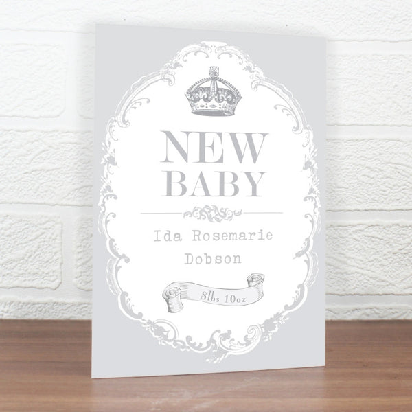 Personalised New Baby Card (Unisex)
