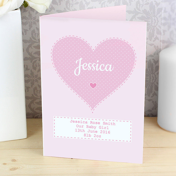 Personalised baby girlchristeningnamingdayfirst birthday card personalised baby girlchristeningnamingdayfirst birthday card the simply small company m4hsunfo