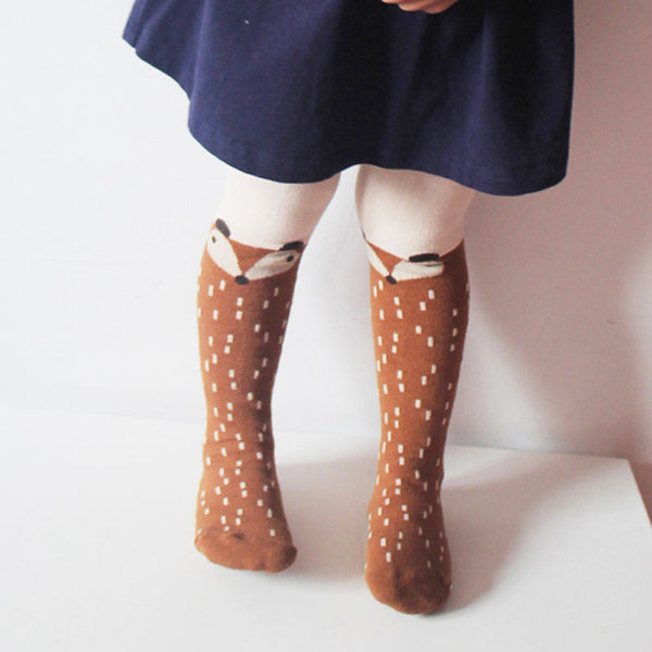 Fox Character Tights (Grey or Brown)