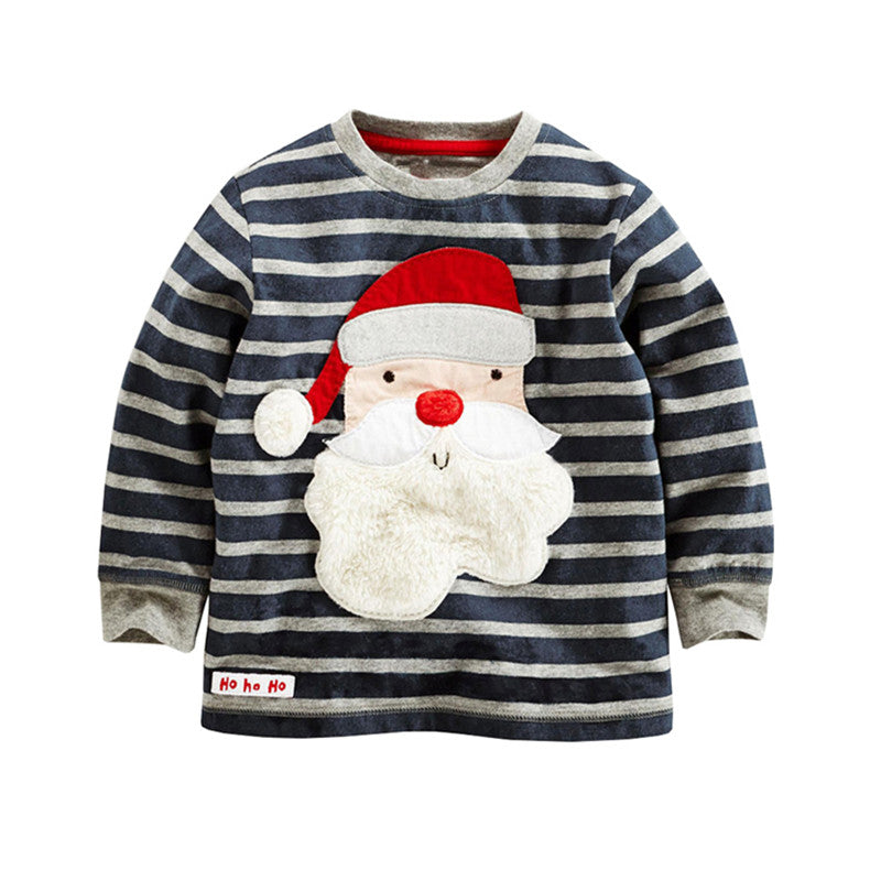 Christmas T-Shirt / Jumper with Applique Santa