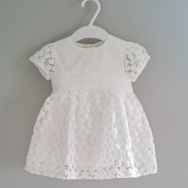 Baby Girl's Ivory Pintuck Occassion Dress