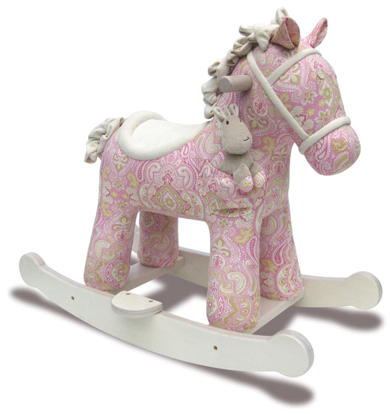 Pink Patterned Rocking Horse - The Simply Small Company