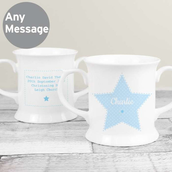 Personalised Blue Star Christening/Keepsake Mug - The Simply Small Company