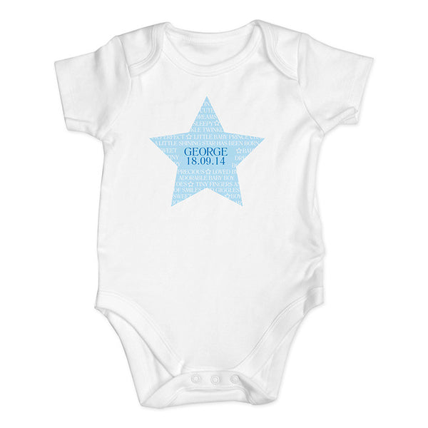 Personalised Baby Boy Vest (Star Design) - The Simply Small Company