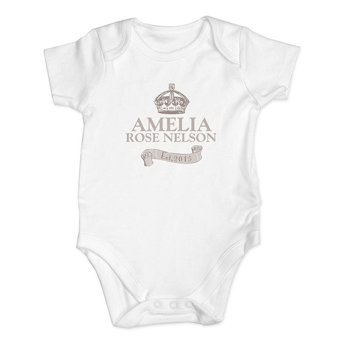 Personalised 'Royal' Crown Baby Vest - The Simply Small Company