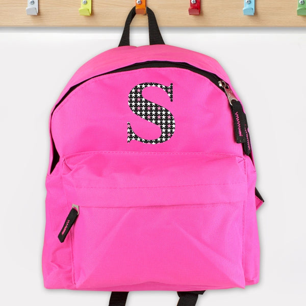 Personalised Star Initial Mini Back Pack (Pink)